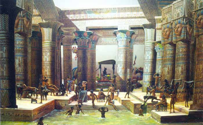 Egyptians bath history